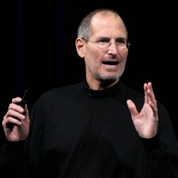 SAN FRANCISCO - JANUARY 27:  Apple Inc. CEO Steve Jobs announces the new iPad as he speaks during an Apple Special Event at Yerba Buena Center for the Arts January 27, 2010 in San Francisco, California. Apple introduced its latest creation, the iPad, a mobile tablet browsing device that is a cross between the iPhone and a MacBook laptop.  (Photo by Justin Sullivan/Getty Images)